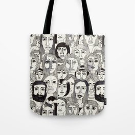 Faces in the Tube Tote Bag