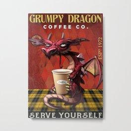 Poster Grumpy Dragon Coffee Co Metal Print