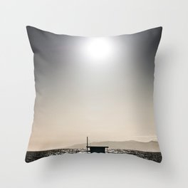 Venice Beach California Guard Tower Throw Pillow