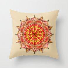 Sacred Pizza Throw Pillow
