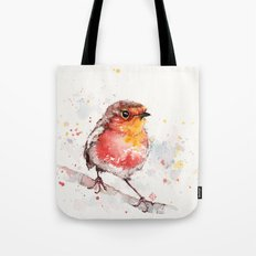Adventure Awaits (Baby Robin Red Breast) Tote Bag