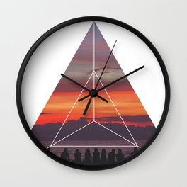 Good Friends and Sunset - Geometric Photography Wall Clock