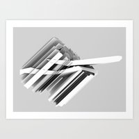 geology Art Prints featuring Geology Stripes 04 by helenlevin