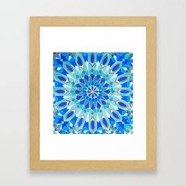 Moroccan Tile - Zellige II Cobalt Framed Art Print