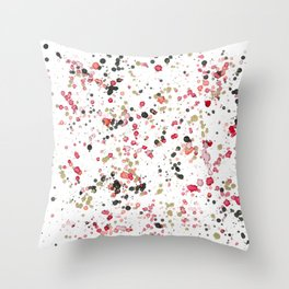 Abstract Drips And Drops Throw Pillow