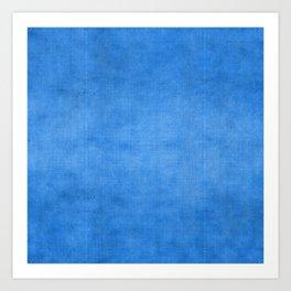 """Exotic Moroccan Indigo Blue Burlap Texture"" Art Print"