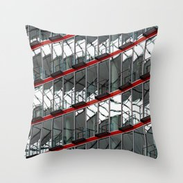 Abstract Red Geometry in Berlin Throw Pillow