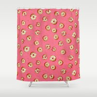 donuts Shower Curtains featuring donuts by shelby anne