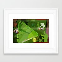 pool Framed Art Prints featuring Pool by Robin Curtiss