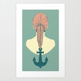 Fish and Anchor Art Print