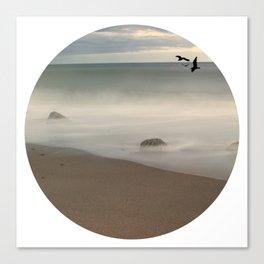 Seaside Escape Ocean Seaside Beach Neutral Postcards Fine Art Prints Gifts Canvas Print