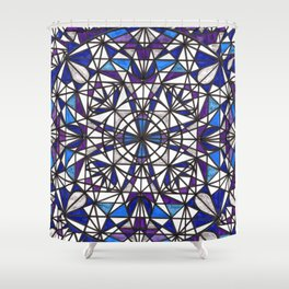 Blue purple dreams Shower Curtain