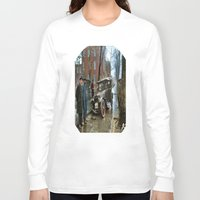 jewish Long Sleeve T-shirts featuring Rainy Day, Washington, D.C. by Brown Eyed Lady