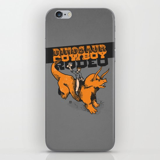 Dinosaur Cowboy Rodeo! iPhone & iPod Skin