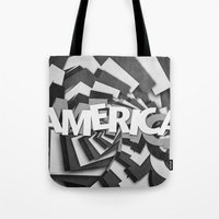 america Tote Bags featuring America by politics