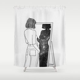 The reflection of your soul. Shower Curtain