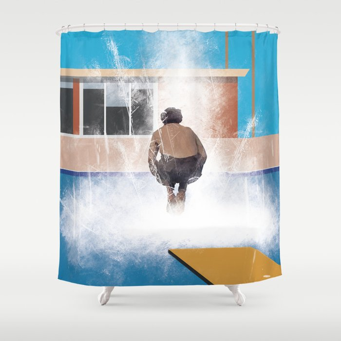 A Much Bigger Splash Shower Curtain
