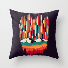 Sunset in Vertical Multicolor Throw Pillow