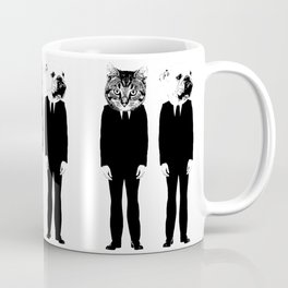The Cat and Dog Business Men Coffee Mug