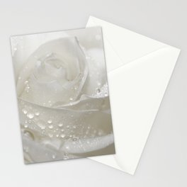 Rose white 0115 Stationery Cards