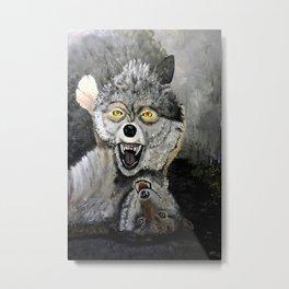 Wolf Play Metal Print