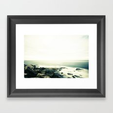 bondi rocks Framed Art Print