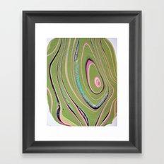 napkin gender/pink green Framed Art Print