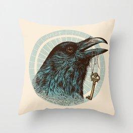 Raven's Head Throw Pillow