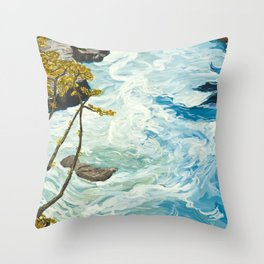 The Collision Throw Pillow
