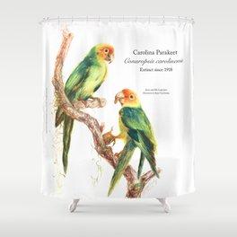 Extinct Birds: Carolina Parakeet Shower Curtain