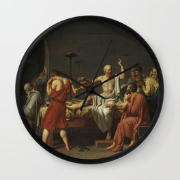 Jacques-Louis David The Death of Socrates Wall Clock
