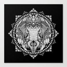 Elephant Medallion Canvas Print