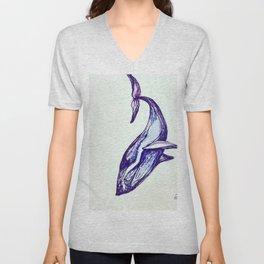 Whale Illustration Unisex V-Neck