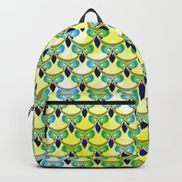 Tired owls in yellow Backpack