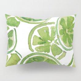 Watercolor LIMES Pillow Sham