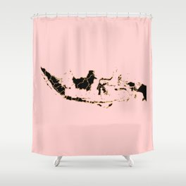 Indonesia map Shower Curtain