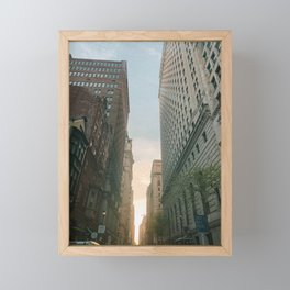 Philly Street View Framed Mini Art Print