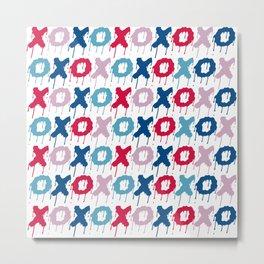 X O PATTERN  Metal Print