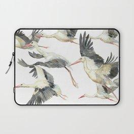 Storks Flying Away, The Last Day of Summer, Flock of Birds Laptop Sleeve