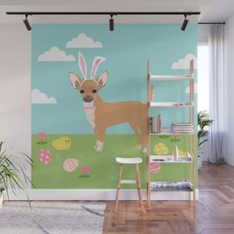 Chihuahua dog breed easter bunny dog costume pet portrait spring chihuahuas Wall Mural