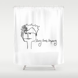 lucy loves lapsang Shower Curtain