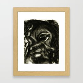 charcoal- test 1 Framed Art Print