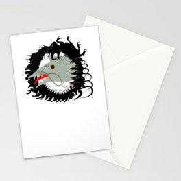 Rat and mouses. Dead black goat. Stationery Cards