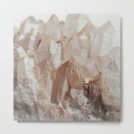 Crystal Blush Metal Print