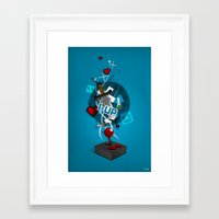 gaming Framed Art Prints featuring I ❤ GAMING by Mikhail St-Denis
