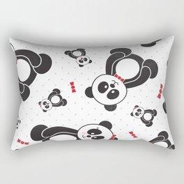 Panda Freefall (Black, White, Red) Rectangular Pillow
