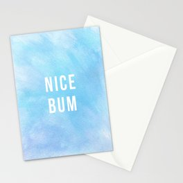 Nice Bum (Pastel Blue) Stationery Cards