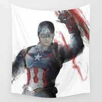 captain silva Wall Tapestries featuring Captain by Alba Palacio