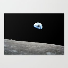 Solar Eclipse viewed from the moon surface Canvas Print