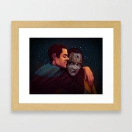Julian & Garak - Stardust Framed Art Print